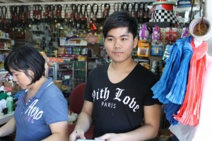 David and his mom in family owned Francisco's Market in Rio Sereno