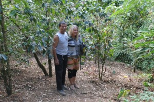 Jen and Don Tito at Milagrosa coffee farm